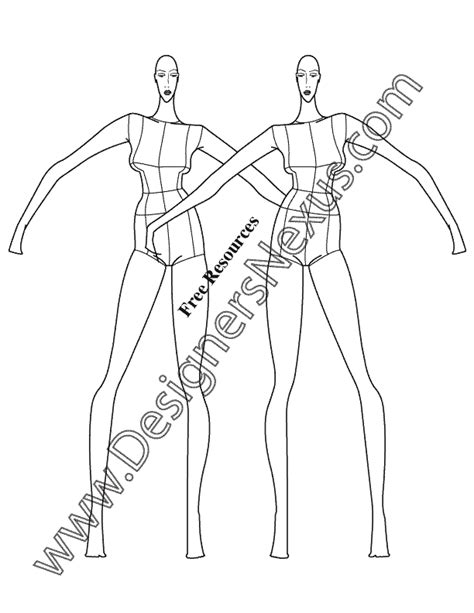 Fashion Figure Drawing Dyahtri N W Astuti the gallery for gt fashion figure templates front and back