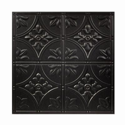 Plastic Ceiling Tiles Home Depot by Drop Ceiling Tiles 2 Ft X 2 Ft Antique Black Ceiling