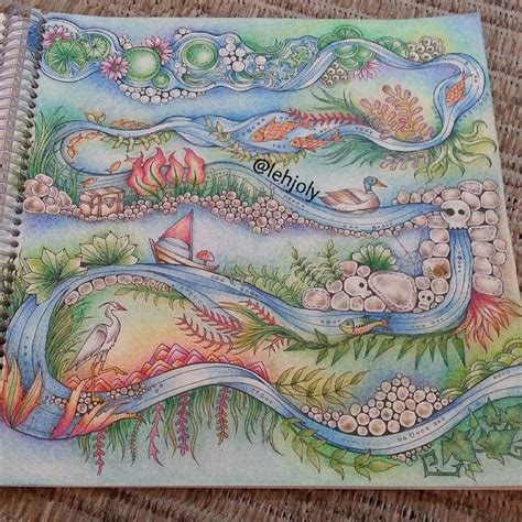enchanted forest colored river enchanted forest colouring page ideas