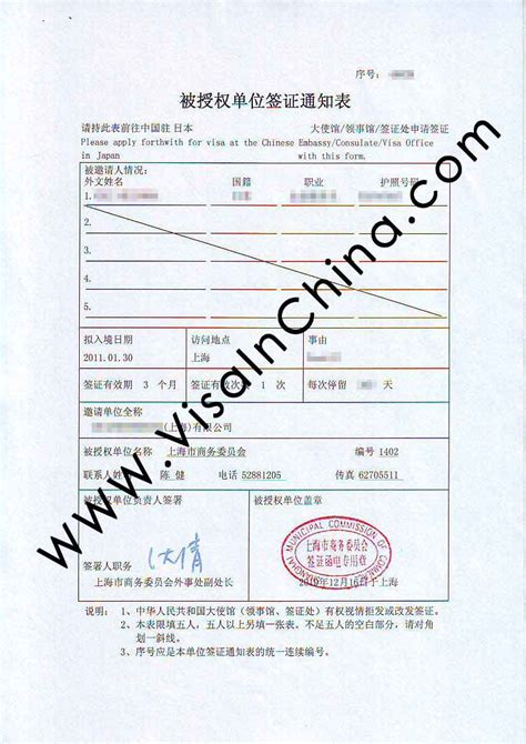 Visa Notification Letter China China M Visa Business Visa Extension And Renewal In Shanghai