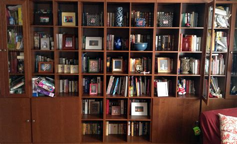 space on the bookshelves