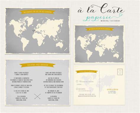 destination wedding save the date language destination wedding invitation world map bilingual invitation