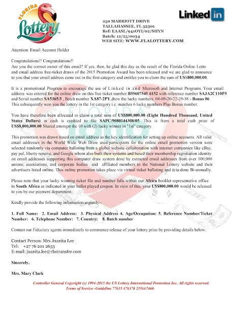 Release Letter For Player Email Scam Targets Fl Lottery Players