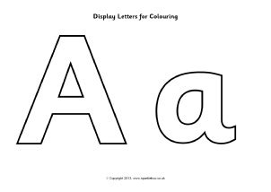 printable alphabet letters for display free instant display lettering cut out letters sparklebox