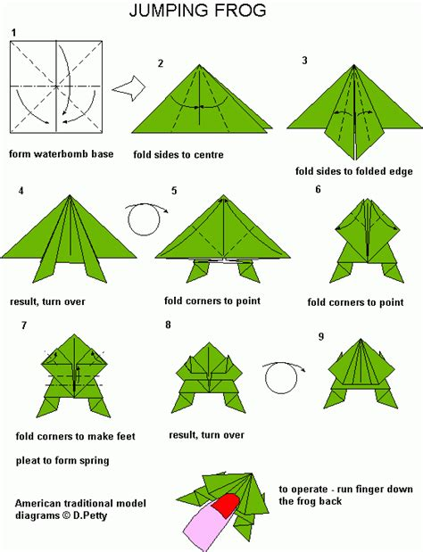 How To Make A Origami Frog Step By Step - jumping frog origami