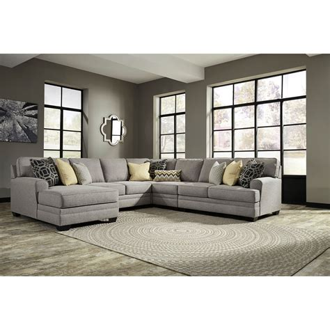 5 piece sectional sofa benchcraft cresson contemporary 5 piece sectional with