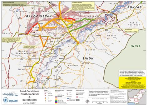 road map from usa to pakistan pakistan road conditions map for northern sindh and