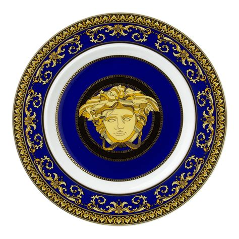 Versace Logo Plate Shopper by Rosenthal Versace Medusa Blue Plate 18cm S Of