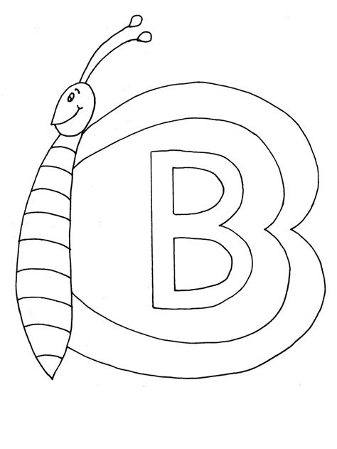 coloring page the letter b geography blog letter b coloring pages