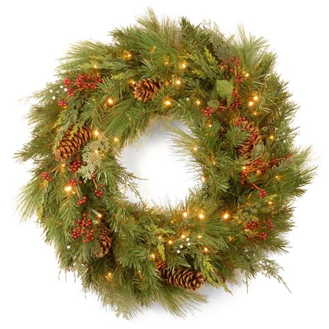 national tree company 30 in white pine artificial wreath