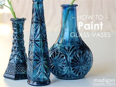 How To Paint Inside Glass Vases by Diy Cobalt Painted Glass Tutorial Thrift Store