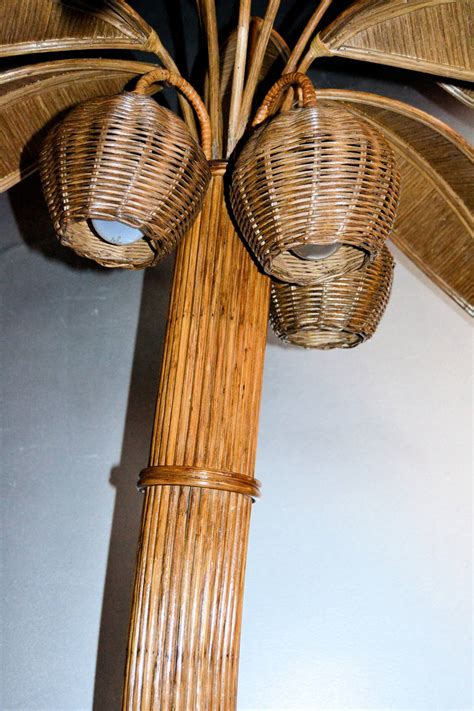 Palm Floor L by 1970s Large Palm Tree Floor L In Bamboo At 1stdibs