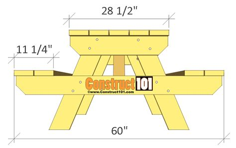 Traditional Picnic Table Plans Construct101