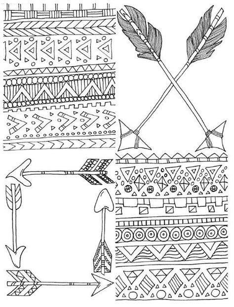 tribal arrow coloring pages coloring pages