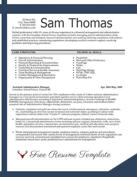 Accounting Resume Templates Free Accounting Resume Exles Best Accountant Templates