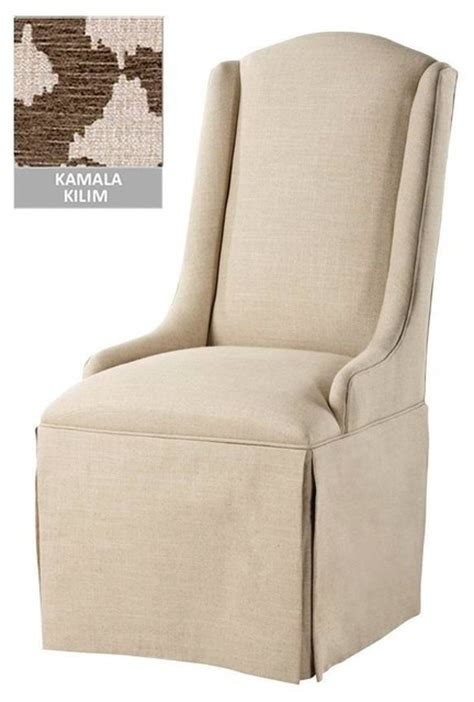 Skirted Dining Chairs Skirted Parsons Dining Chairs 4d Concepts Skirted Parsons Chair In Textured Tonal Taupe
