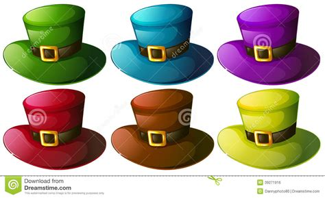 colorful hats six colourful hats stock vector image of fashionable