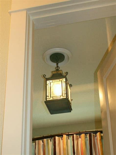 how to replace a bathroom light fixture replace recessed light with a pendant fixture hgtv