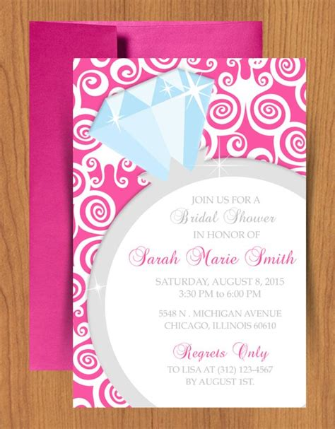 Diy Ring Bridal Shower Invitation Editable Template Bridal Shower Invitation Templates Microsoft Word Free