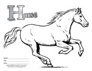 free coloring pages of cartoon horse