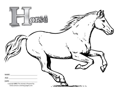 black and white coloring pages of horses free coloring pages of cartoon horse
