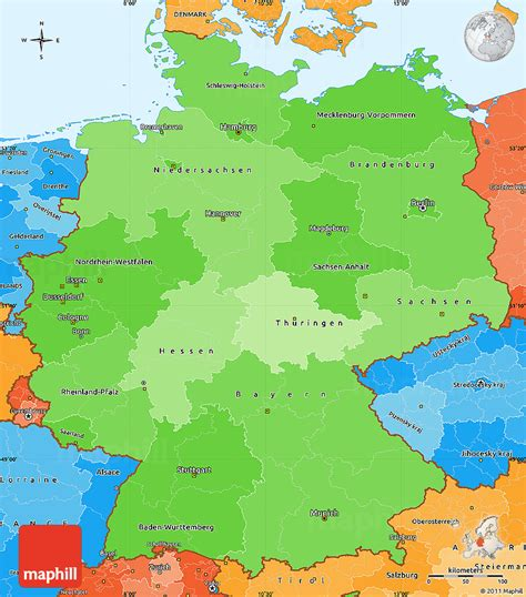germany map political political shades simple map of germany