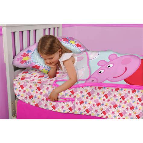 Peppa Pig Bed Set Duvet Peppa Pig Peppa At Play Zip It Bedding Set With Pillowcase Ebay