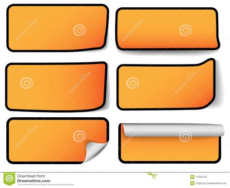 types of orange color modern sale tags six types stock image image 17941101