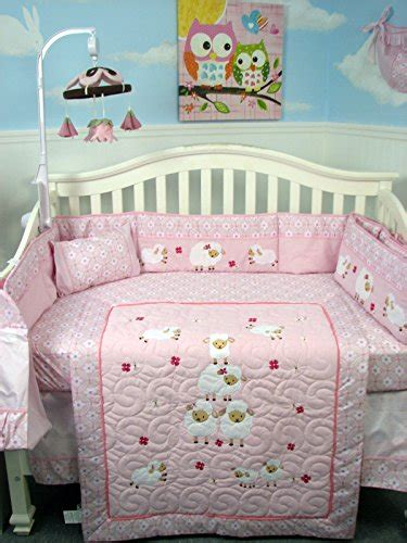 Soho Wolly Sheeps Crib Nursery Bedding Set 14 Pcs Baby Soho Crib Bedding Set