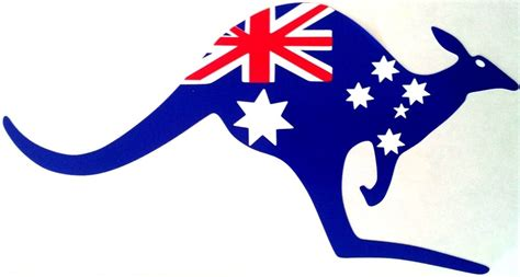 australia flag kangaroo full colour placement car