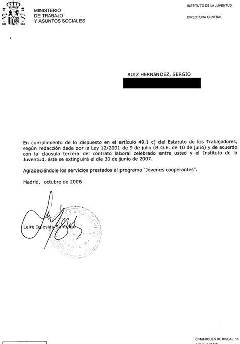 ejemplo carta de despido laboral carta de despido ejemplo newhairstylesformen2014 com