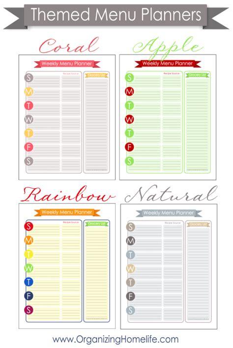free printable kitchen planner free menu planning printable organize your kitchen