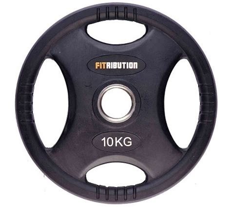 Olahraga Fitness Senam Rubberized Weight Plate 10kg fitribution 10kg weight plate hq rubber with grips 50mm