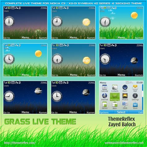 theme nokia x2 cartoon grass live theme for nokia c3 x2 01 themereflex