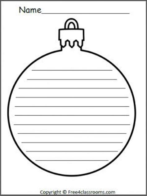 christmas ornament templates and writing on pinterest