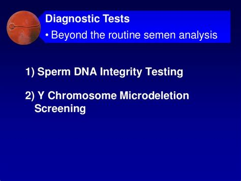 Male infertility current concepts for reproductive specialists Y Chromosome Microdeletion