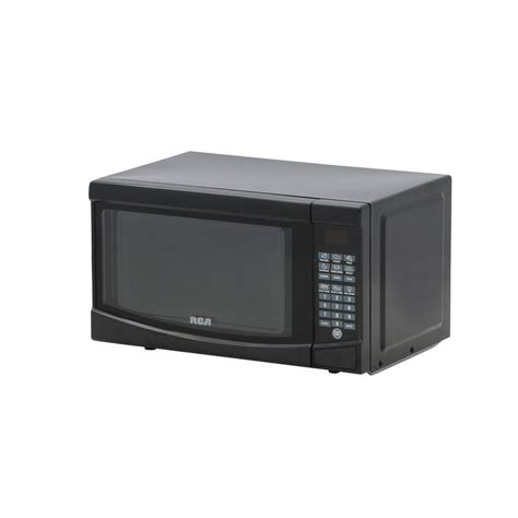 rca 0 7 cu ft countertop microwave in black rmw733 black