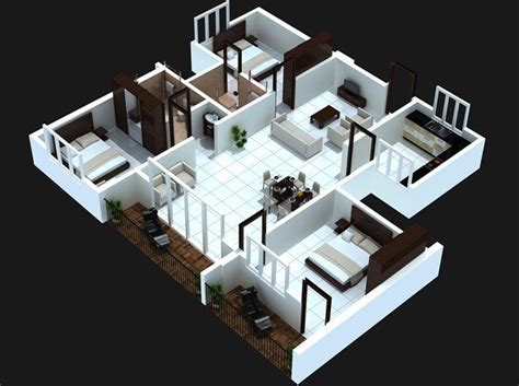 8 Ways A House Guest Can Be Annoying by 50 Three 3 Bedroom Apartment House Plans 집