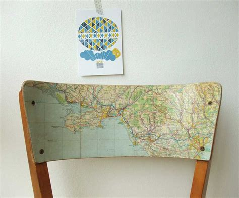 Decoupage Maps On Furniture - 25 ways to repurpose maps maps