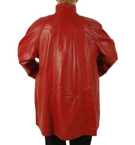 red leather swing coat plus size 24 26 3 4 length red leather swing coat from
