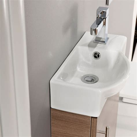 Valencia Bathroom Furniture Valencia Mini Oak Vanity Unit 400mm Wide Plumbing