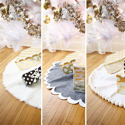 how to make a tree skirt 3 easy no sew tree skirts a beautiful mess