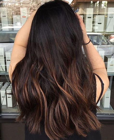 black hair with chocolate brown highlights 11 best images about cabello on pinterest highlights
