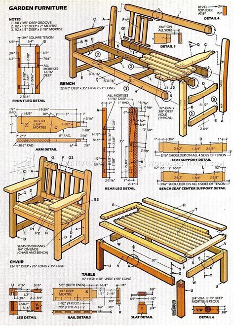garden furniture plans woodarchivist
