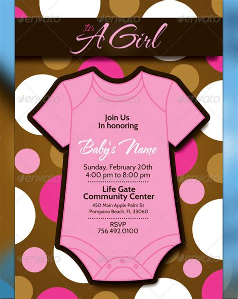 16 baby shower flyer templates printable psd ai
