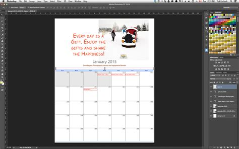 design calendar in photoshop create a calendar in photoshop