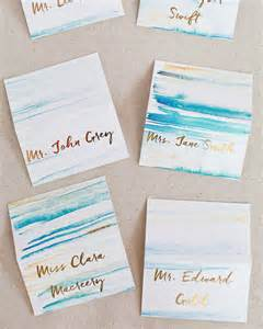 Diy Place Cards diy gold foil place cards with watercolor background heidi swapp