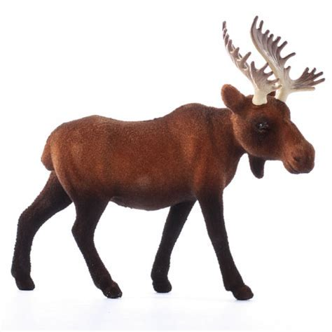 Flocked Brown Bull Moose   Table Decor   Christmas and
