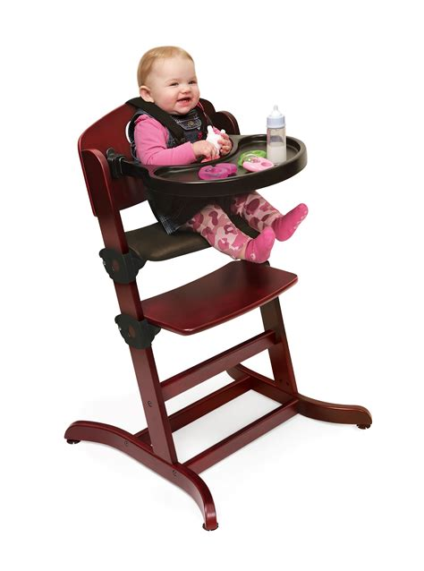 Badger Basket Evolve High Chair badger basket evolve wood high chair with tray by oj commerce 52 99 168 99