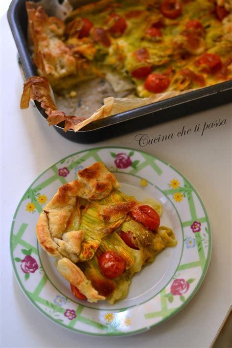 ricette con fiori di zucchina torta salata con i fiori di zucchina cucina ti passa